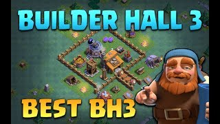 Clash of Clans New 'BEST' Builder Hall 3 Design (BH3) New Versus Battle Update CoC Defense Layout