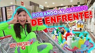 24 HORAS ROBANDO EL CARRITO DE ENFRENTE Y PAGUÉ TODO!!! 😱💰 | Leyla Star 💫