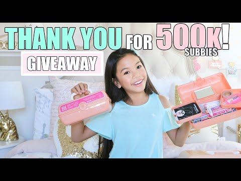 😱THANK YOU FOR 500K Subbies!!! ❤️GIVEAWAY!