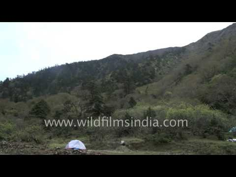 Tibetan Himalayas as seen from ChogLa Pass