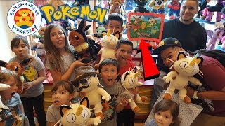 Ethan And Friends Make A MEOWTH At Build A Bear!! Exclusive Pokemon Cards, Fashion Show at Disney!!