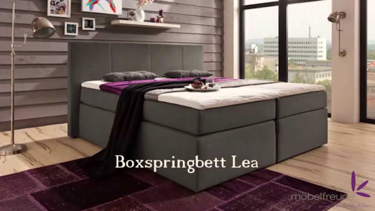 boxspringbett bea lea sandy kaz 01 aufbau video von youtube. Black Bedroom Furniture Sets. Home Design Ideas