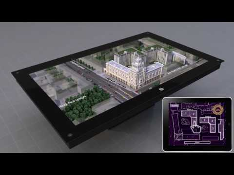 Presentation of 3D Holographic Table - Nettlebox in Australia from 3D AGENCY