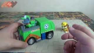 Обзор игрушек Щенячик Патруль: Машинка спасателя и щенок Рокки