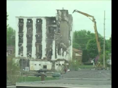 Moody Thomas Mill Demolition Time Lapse