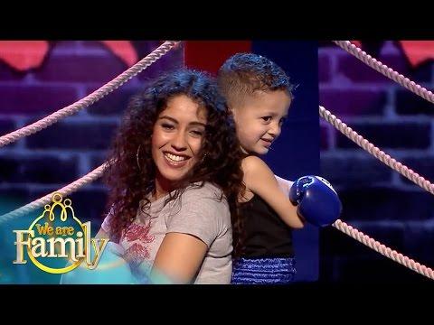 EXCLUSIEF: 4-jarige Jamil Bokst En Rapt Er Op Los! | We Are Family 2015 | SBS6