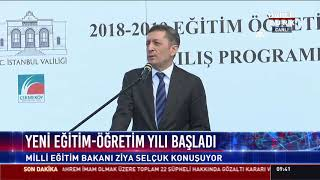 Milli Eğitim Bakanı Ziya Selçuk konuşuyor
