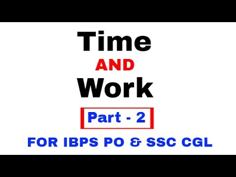 Time And Work Problems Shortcuts and Tricks