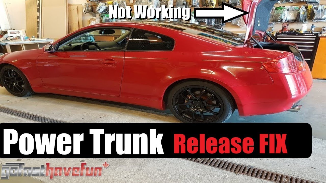 infiniti g35 power trunk boot release problem fix anthonyj350 [ 1280 x 720 Pixel ]