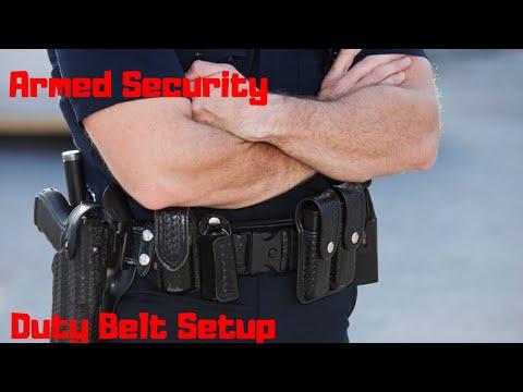 Armed Security Duty Belt Setup