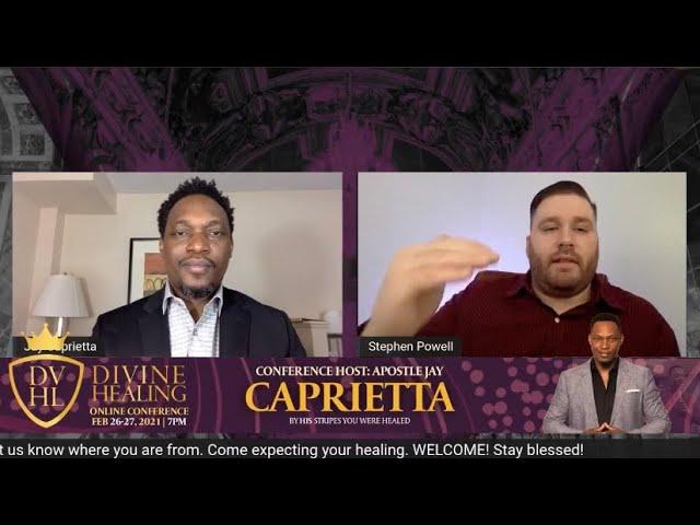 POWERFUL ONLINE HEALING MEETING! | Jay Caprietta & Stephen Powell