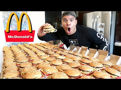 Thumbnail: INSANE 100+ MCDONALD'S BIG MAC CHALLENGE (IMPOSSIBLE) *100,000 CALORIES*