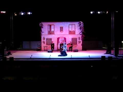 Junko Hagiwara ¨La Yunko¨  XXXIII FESTIVAL FLAMENCO ¨JUAN TALEGA¨ 2013. Soleá con bata de cola