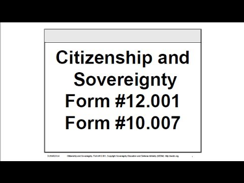 Citizenship And Sovereignty Course Form   Youtube