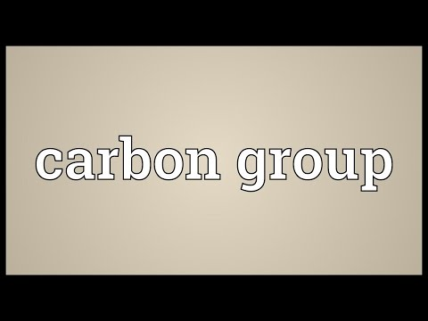 Carbon group Meaning