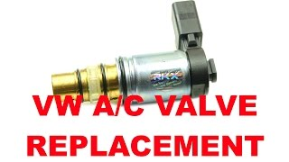 VW AC compressor solenoid valve diagnosis and replacement Sanden PXE16 and PXE14