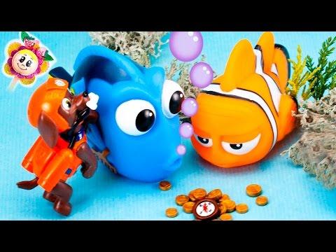 La PATRULLA CANINA BUSCANDO A DORY encuentra un tesoro / Paw Patrol, Dori y Nemo de Disney español
