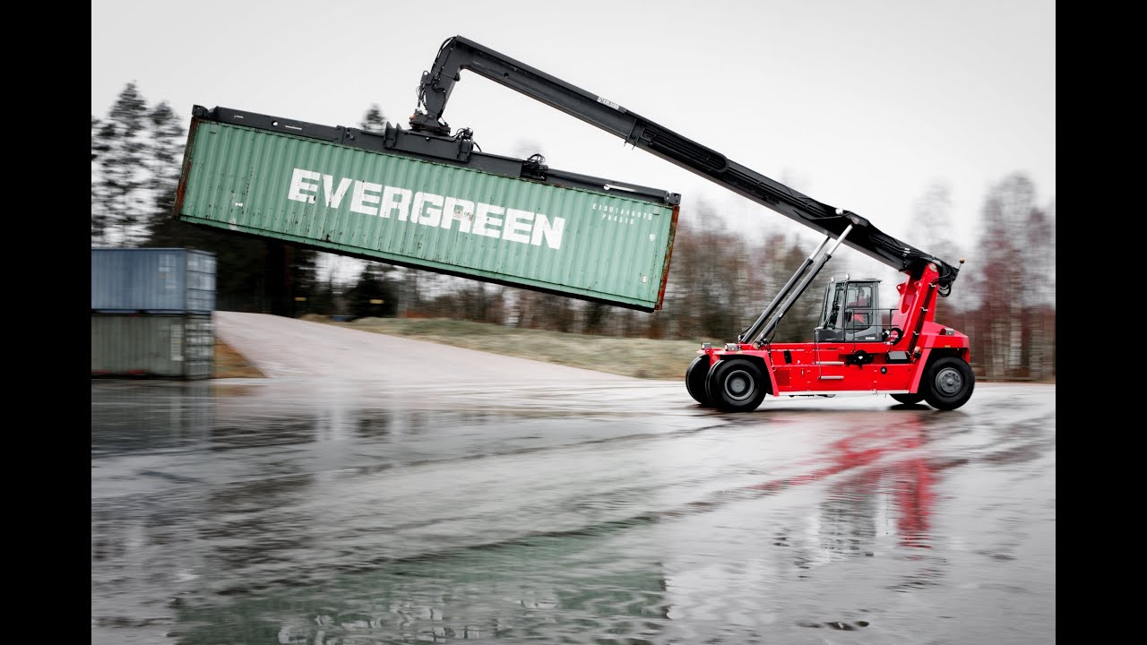Kalmar DRG100 empty and semi-laden container reachstacker - YouTube 12801dc3b3292