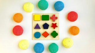 Учим плоские геометрические фигуры и цвета на английском