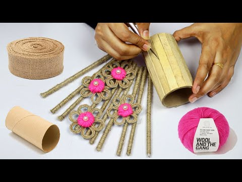 Best Creative Jute Craft for Room Decoration Ideas   Best Out of Waste Craft Idea