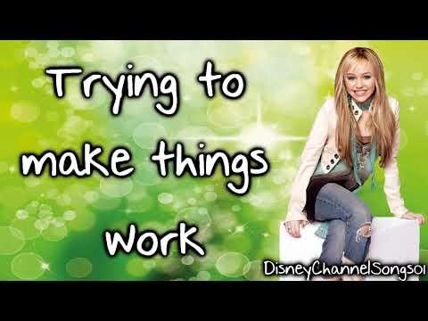 Hannah Montana One in a million With Lyrics