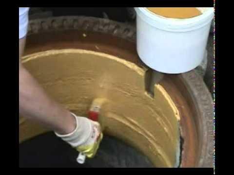 Восстановление колодца посредством полимерного рукава