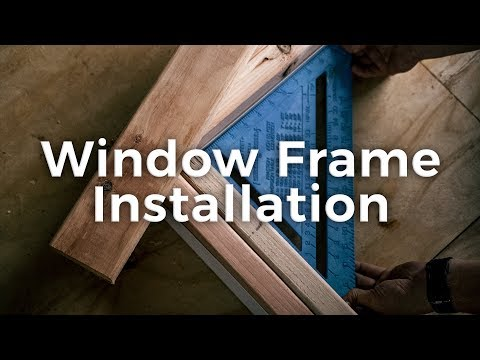 DIY Shipping Container Home Window Frame Installation | Step by Step