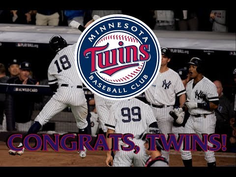 Congrats, Twins!