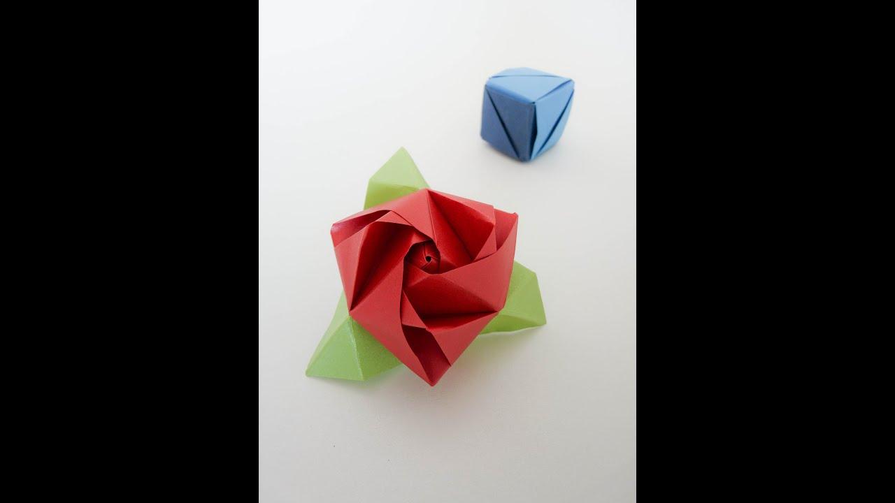 Origami Magic Rose Cube - YouTube - photo#8