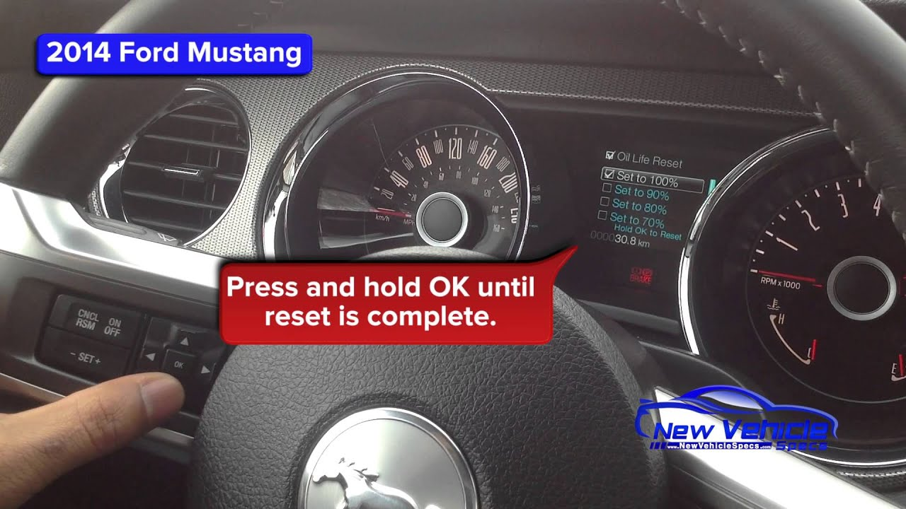 14 Mustang 5 0 Oil Capacity >> 2014 Ford Mustang Oil Light Reset Service Light Reset Youtube