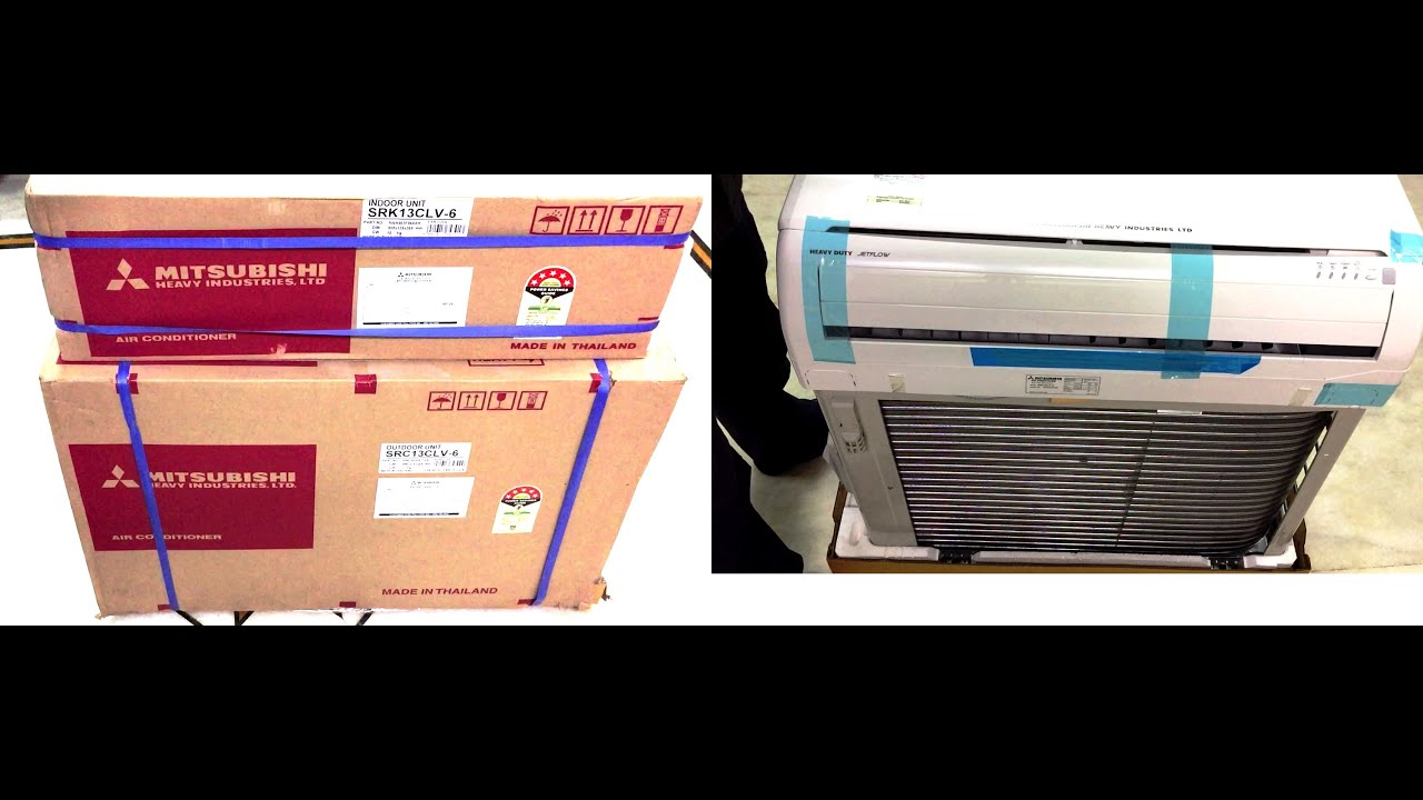 Mitsubishi SRK 13 CLV-6 Split Ac 1 1 Ton 5 Star Unboxing And Review (INDIA)
