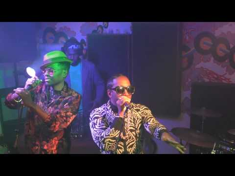 Camp Lo and Ski Beatz video shoot and rap cypher at The Boom Room