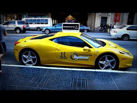 Top Gear Ferrari Italia Usa Taxi Fleet Supercars Youtube