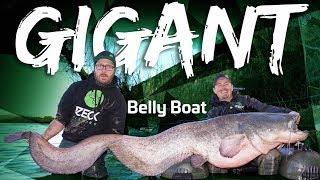 Belly Boat GIGANT   Vertical Jigging auf Wels im Winter   www.zeck-fishing.com