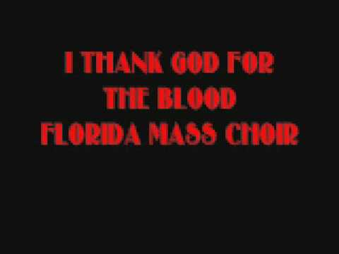 I THANK GOD FOR THE BLOOD