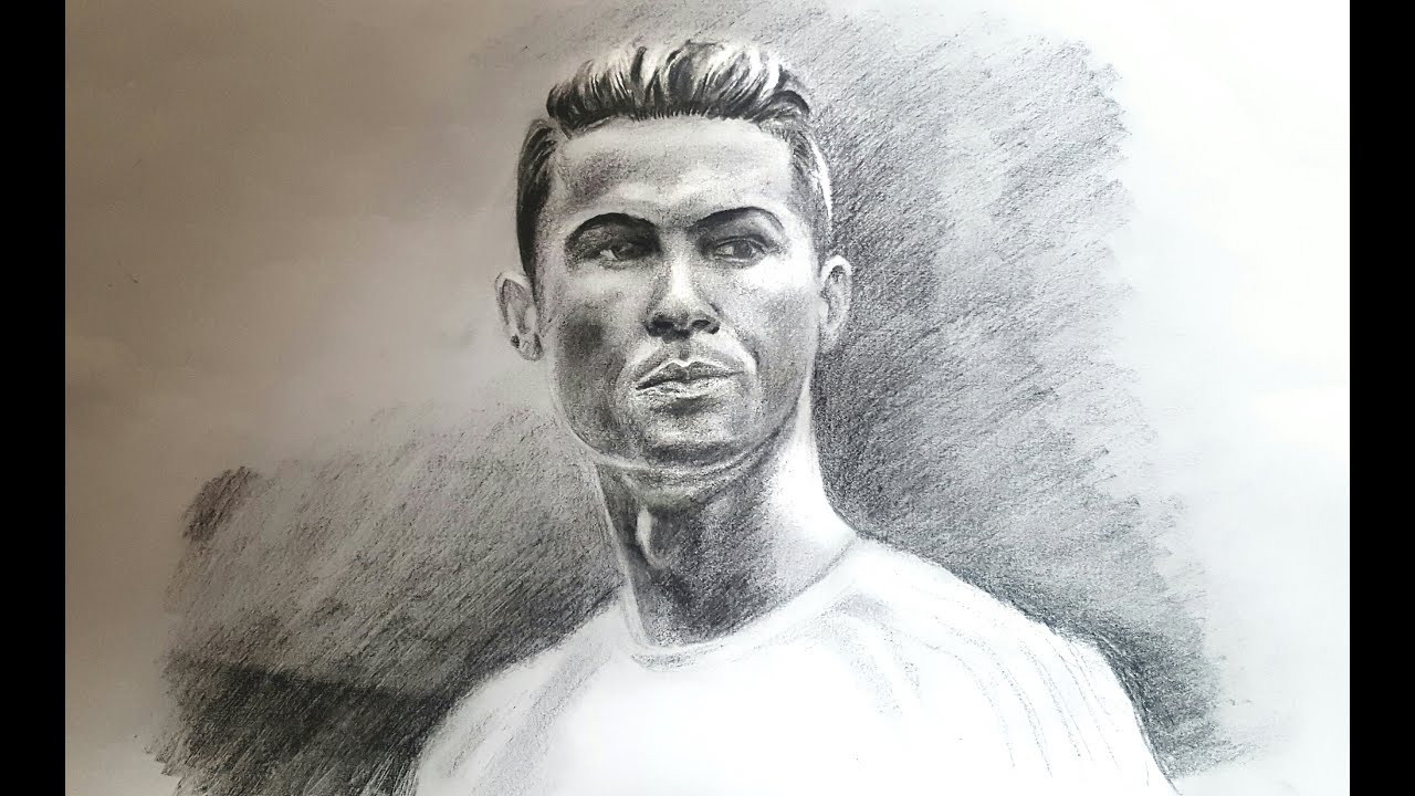 Drawing Cristiano Ronaldo | Realistic pencil drawing time ...