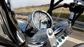 Yamaha Virago XV 125. Przyspieszenie / Acceleration 0-110 km/h (V-max)