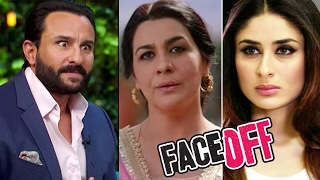 Saif Ali Khan REACTS on Kareena Kapoor & Amrita Singhs FACEOFF