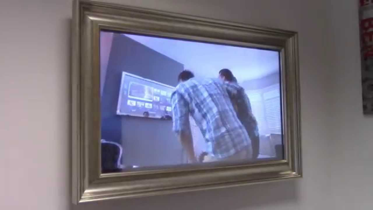 Dmtv 40 samsung mirror tv with frame 601358000 youtube for Mirror for samsung tv