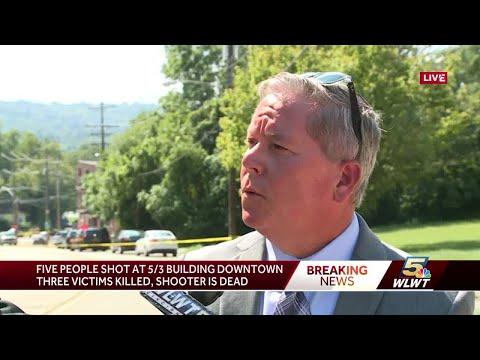 Authorities swarm apartment of now-dead gunman after Cincinnati shooting