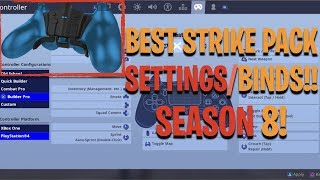 Fortnite Custom Strike Pack UPDATE Settings! (SEASON 8)