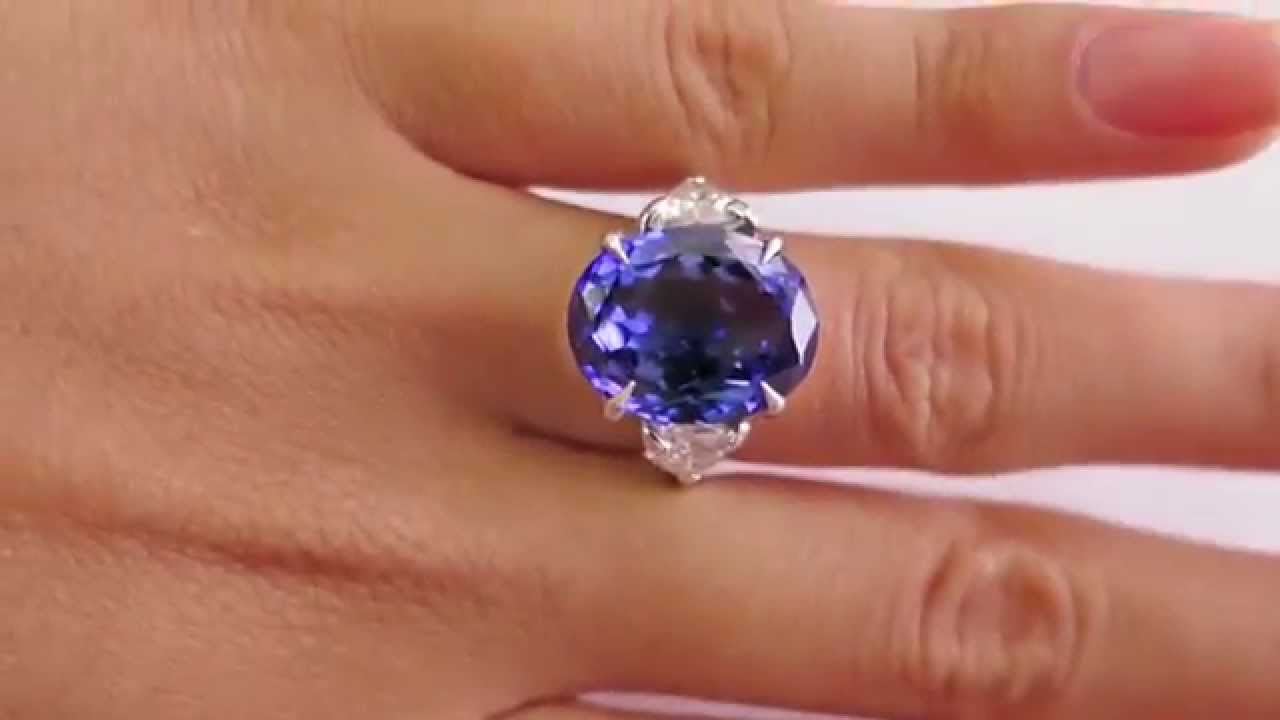 expand item oval f vintage to engagement platinum full ring tanzanite click diamond gia