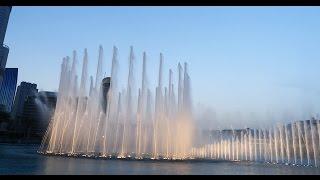 Spectacle des Fontaines de Dubai, au pied du Burj Khalifa