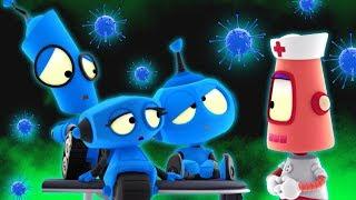 Rob the Robot's Space Virus Blues | Space Robots Cartoon