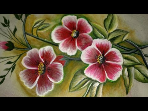Fabric painting tutorial for beginners.