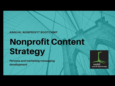 How To Build A Nonprofit Content Strategy - Persona And Targeted Marketing Message Development