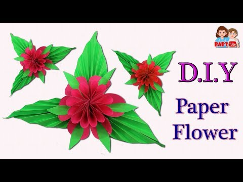 How to Make Paper Flower   Origami Flower   DIY Paper Flower   Paper Flower Tutorial