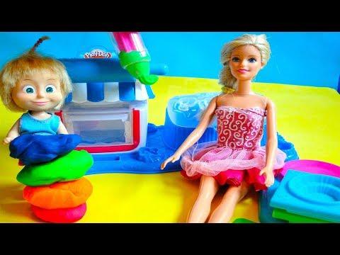 bajka Masza i Barbie po polsku Barbie otworzyła Piekarnie tort dla Doktor