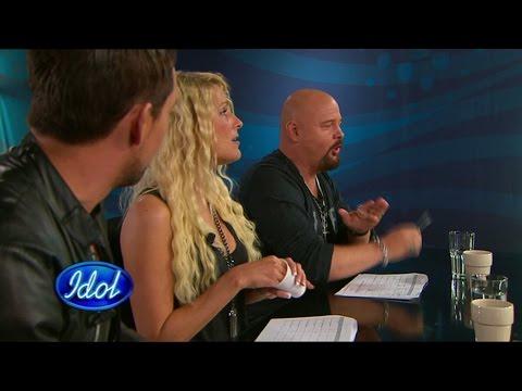 Anders Bagge rappar på finska i Idol 2009 - Idol Sverige (TV4)