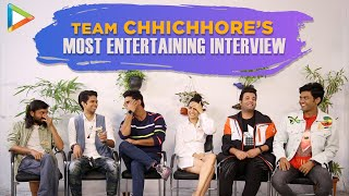 Team Chhichore Exclusive Interview |  Hilarious Rapid Fire & Funny Quiz | Sushant | Shraddha | Varun